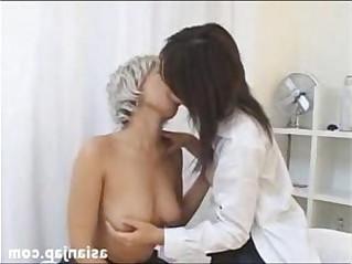 Japanese Lesbian Kiss