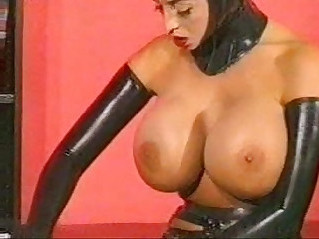 Busty latex babes