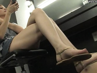 flip flop and foot worship