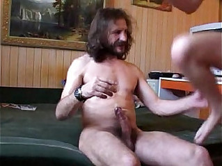 Cute girl fuck with old man