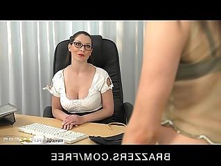 Stunning brunette finger fucks her student to orgasm