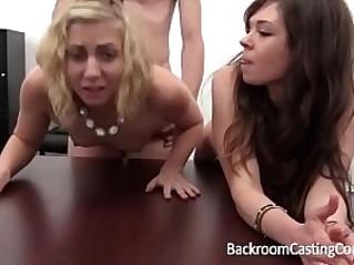 BFF Lesbian and Anal Casting Threeway
