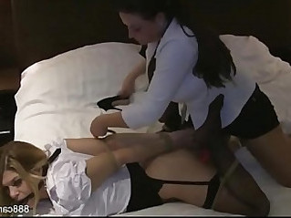 Carissa gets her pussy Banged Lesbian Porn Video